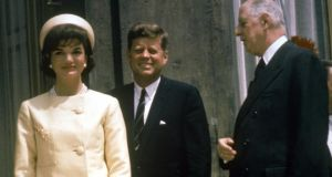 The Kennedys with President Charles de Gaulle of France in Paris in 1961