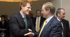 Joe Kennedy III greets Taoiseach Enda Kenny