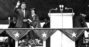 President Kennedy with the then mayor of Limerick Frances Condell