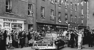 John F Kennedy arrives in Wexford in June 1963.