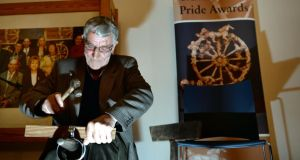 Tinsmith Tom McDonnell  was awarded overall winner at the Traveller Pride Awards last month. Photograph: Brenda Fitzsimons/The Irish Times