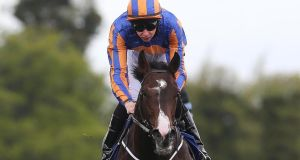 Battle Of Marengo wins the Derrinstown Stakes at Leopardstown and is being aimed at the King Edward VII Stakes at Royal Ascot next week.