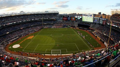 It's Yankee Stadium, the Bronx; it's the Republic of Ireland v Spain