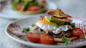 Breakfast tostadas. Photograph: Dara Mac Dónaill