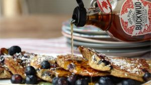 Blueberry and banana pancakes. Photograph: Dara Mac Dónaill