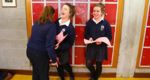Deirdre Walsh, Audrey McCauliffe and Amy Alcock at Abbey Community College, Ferrybank, Waterford.