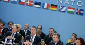 Nato general secretary Anders Fogh Rasmussen at a defence ministers' meeting in February. The US share of Nato spending has risen from 63 per cent in 2001 to 77 per cent today. Photograph: Getty Images)