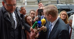 Taoiseach Enda Kenny is threatened with the loss of five or six TDs and Senators if they vote against the abortion Bill. Photograph: Eric Luke