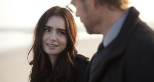 Lily Collins and Greg Kinnear in Stuck in Love