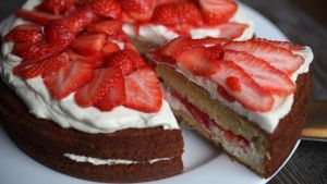 Strawberry cake. Photograph: Alan Betson