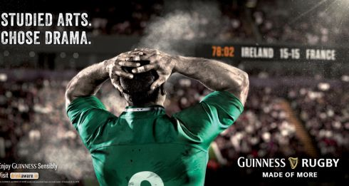 Entered by - Irish International | Title of work - Made of More | Client - Guinness | Product - 6 Nations Rugby sponsorship | Concept - Aidan Dowling and Kirk Bannon | Creative Director - Mal Stevenson | Art Director - Kirk Bannon | Copywriter - Aidan Dowling | Photographer - Doug Fisher | Account Director - Tanya English | Marketing Manager - Stephen O'Kelly