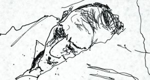 Detail from Sleep Inside the Pillow illustration of Bob Hewson by Bono
