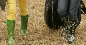 One of the topics covered was marketing coloured wellies for festivals. Photograph: Alan Betson