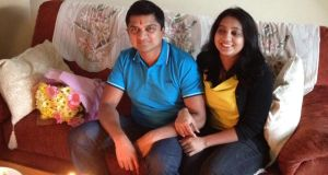 Savita Halappanavar and her husband Praveen photographed at home  in Galway.