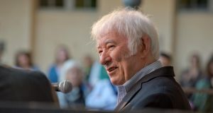 Seamus Heaney at the Centre Culturel Irlandais in Paris. Photograph: Des Harris/The Picture Desk