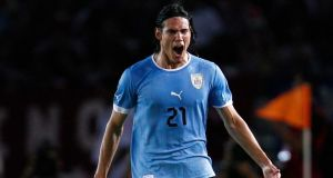 Napoli and Uruguay's Edinson Cavani wants a move to Real Madrid. Photograph: Carlos Garcia Rawlins/Reuters