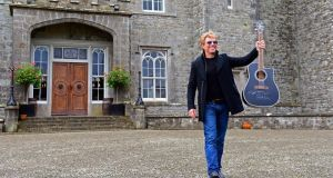 Jon Bon Jovi last year at the announcement of tomorrow's concert at Slane. Photograph: Eric Luke/The Irish Times