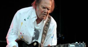 Neil Young playing in Malahide Castle in June 2008