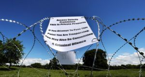 High security: razor wire near Lough Erne, in advance of the G8 leaders' arrival. Photograph: Paul Faith/PA