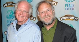 Jerry Greenfield (right) with Ben & Jerry's co-founder Ben Cohen. Photograph: Jamie McCarthy/Getty Images