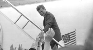 Homeward bound: President Kennedy boards Air Force One at Shannon Airport on June 29th, 1963