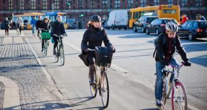 Model behaviour: cyclists in Copenhagen. Photograph: Ulrik Jantzen/Bloomberg