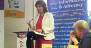 Minister for Social Protection Joan Burton made her comments ahead of launching the twentieth edition of the INOU Working to Work booklet. Photograph: Éanna Ó Caollaí