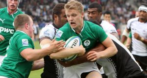 Ireland's Steve Crosbie during the game against Fiji in the Junior World Championship in France.