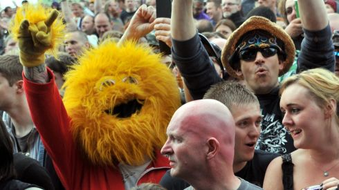 Rock on, Honey Monster! Photograph: Lewis Stickley/PA Wire