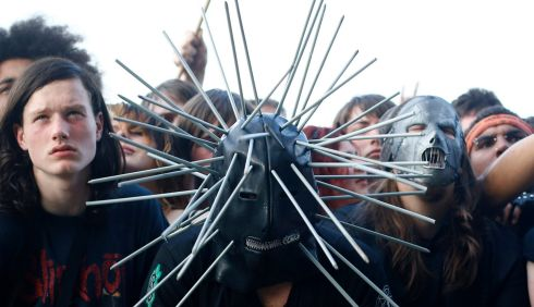 Sure, that'd take the eye out of yer head. The crowd for Korn. Photograph: Darren Staples/Reuters