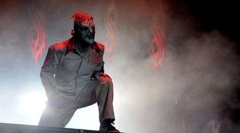 Slipknot's Corey Taylor: ideal boyfriend material.  Photograph: Lewis Stickley/PA Wire