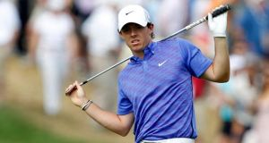 Northern Ireland's Rory McIlroy  after a shot to the fifth green during the third round of the 2013 US Open  at the Merion Golf Club in Ardmore, Pennsylvania. Photograph: Matt Sullivan/Reuters