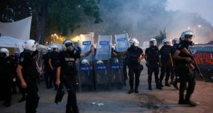 Riot police clear  anti-government protesters from Gezi Park in central Istanbul. Photograph: Murad Sezer/Reuters