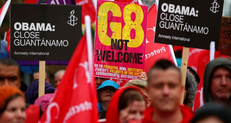 G8 protests and preparations