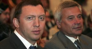 Russian oligarch Oleg Deripaska (left), whose wealth is estimated to be €6.6 billion, owns Aughinish Alumina through Rusal, the world's largest aluminium producer. Photograph: Pressphotos/Getty Images