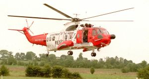 File photograph of a Department of the Marine Sikorsky S61N-MES rescue helicopter. Photograph: David Sleator