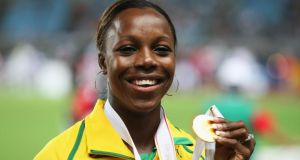 Two-time Olympic 200m champion Veronica Campbell-Brown of Jamaica tested positive for a banned diuretic and faces a two year ban from athletics competition. Photograph: Andy Lyons/Getty Images