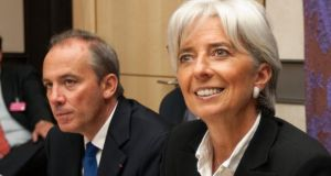 France's former finance minister Christine Lagarde and her then head of cabinet Stephane Richard in 2008. Photograph: Charles Platiau/Reuters