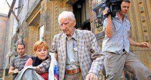 Hungarian Laszlo Csatary  leaves the prosecution building in Budapest last year. Photograph: Reuters