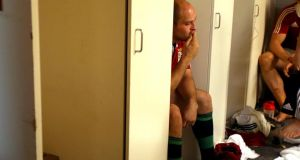 A dejected British & Irish captain Rory Best. Photograph: Dan Sheridan/Inpho