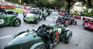 A route that reads like a tour guide for Italian villages and cities: on the road in the Mille Miglia