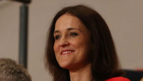 Northern Secretary Theresa Villiers watches the proceedings. Photograph: Peter Macdiarmid/Getty Images