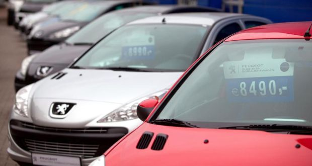 Second Hand Peugeot Cars On Display No1 At An Auto Dealership In Berlin
