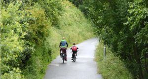 The Greenway in Westport, Co Mayo. Photograph: Dara Mac Dónaill