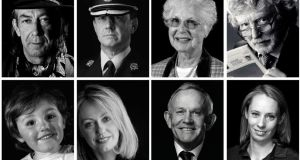 Faces of Cork. From top left: Robert Ziegler, Colonel Barry Hanan, Prof Máire Mulcahy, Billy McGill, Flynn Johansson, Clodagh McKenna, Leslie Buckley and Derval O'Rourke. Photographs: Michael Sheehan, David Cantwell and John Daly