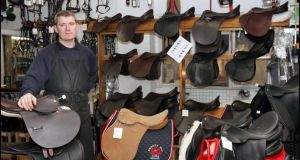 Thomas Berney of Berney Bros Saddlery & Riding Wear Kilcullen Co Kildare. Photograph: Brenda Fitzsimons