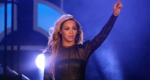 Beyoncé in concert  in London earlier this month. Photograph: Neil Hall/Reuters
