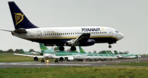 Ryanair attracted buyers because its share price was slightly down. It clo a sed at ¤6.97, up 1.75 per cent. Photograph:Eruc Luke/The Irish Times