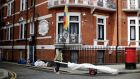 The Ecuadorian embassy where Julian Assange has been living following refusal of  his appeal against extradition to Sweden on sex charges. Photograph: Matthew Lloyd/Getty Images