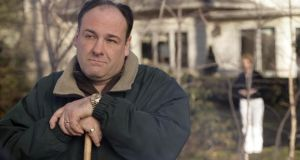 James Gandolfini as Tony Soprano in a scene from one of the last episodes of the HBO TV series The Sopranos.